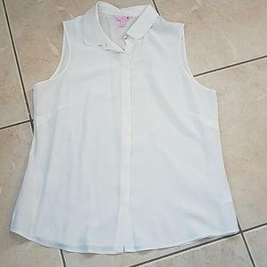 LILLY PULITZER Silk Botton Down Shirt